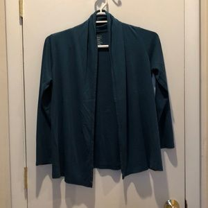Teal LL bean cardigan